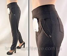 Штани жіночі - великі розміри 5XL - 7XL Лосіни жіночі з кишенями - батал, фото 2
