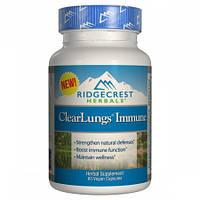 Иммуностимулирующий Комплекс для Поддержки Легких RidgeCrest Herbals Clear Lungs Immune (60 гелевых капсул)