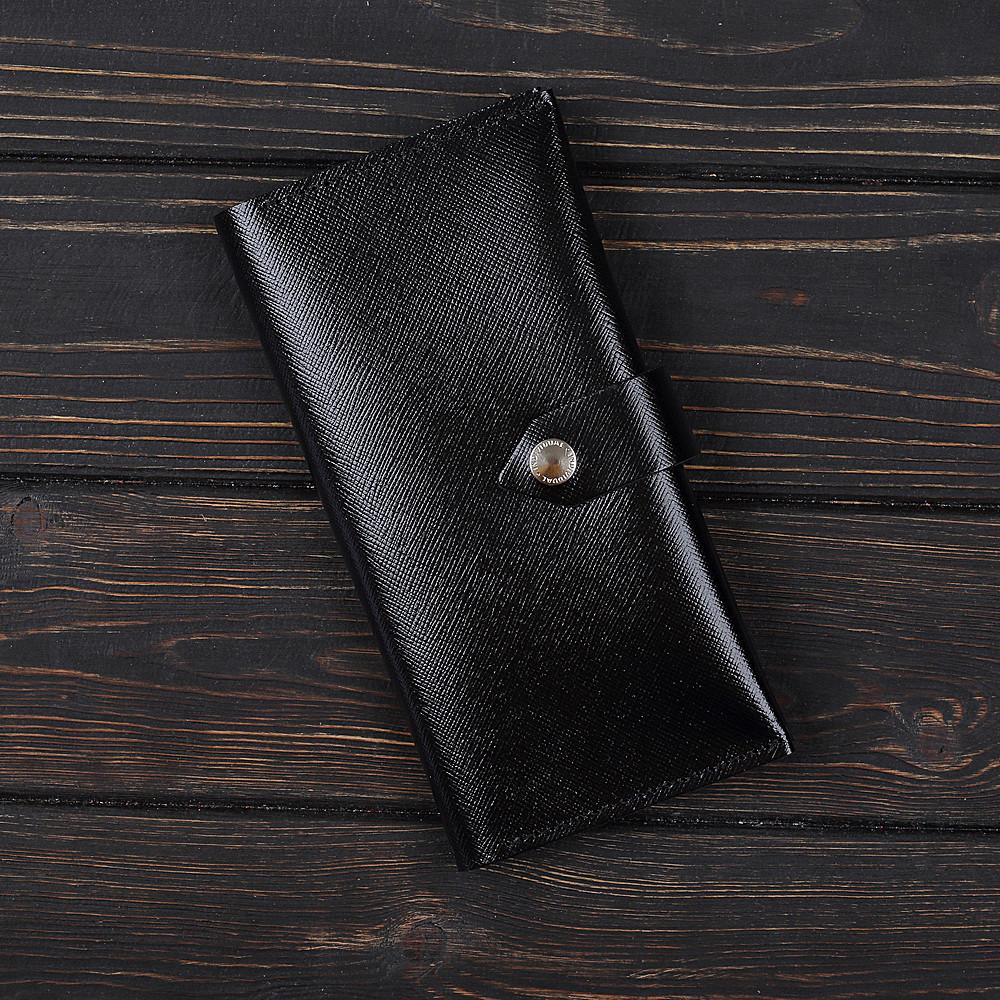 Портмоне v.4.0. Fisher Gifts BUSSINES портофино черный (кожа)