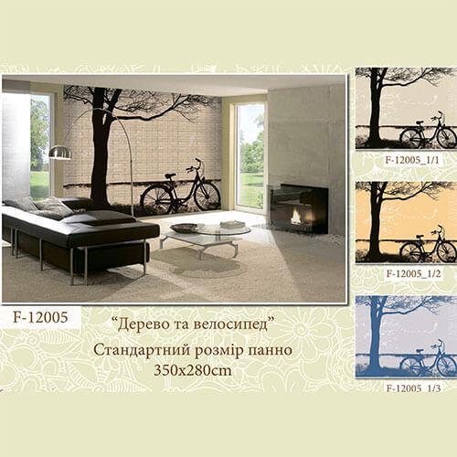 """Интерьерная деколь """"Дерево и велосипед"""""""