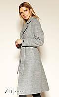 Женское пальто Edvige Zaps серого цвета. Коллекция осень-зима 2019-2020
