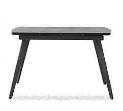 Стол раскладной Largo Iron Grey (Ларго Айрон Грей) 120-180см, глазурованное стекло серый, Concepto
