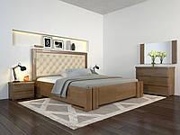 Кровать деревянная двуспальная с подъемным механизмом Амбер