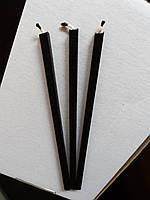 Свечи черные восковые 100% premium quality ⭐⭐⭐⭐⭐ />2.5 h/ 07 см Ø 20 см /собственное производство✅, фото 1