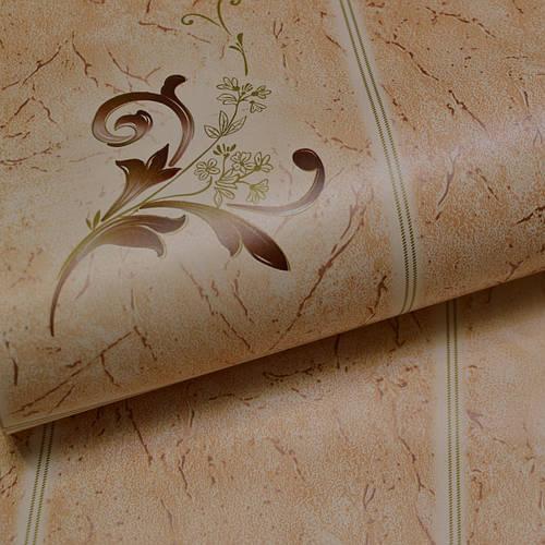 Обои для стен шпалери под плитку влагостойкие бежевые  0,53х10
