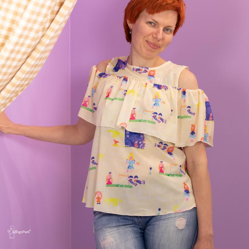"""Блуза для беременных и кормящих HIGH HEELS MOM """"Мама"""" жёлтая"""