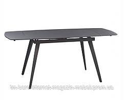 Стол раскладной Largo Matt Grey (Ларго Мат Грей) 120-180см, стекло серый, Concepto