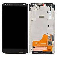 Дисплейный модуль для Motorola XT1581 Moto X Force (Black) в рамке