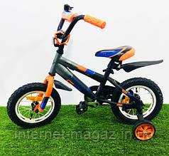 """Детский велосипед Azimut Stitch 12"""" (оранжевый)"""