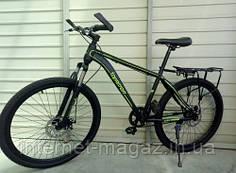 Велосипед Топ райдер 700 (черно-салатовый)