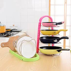 Стойка для сковородок Frying Pan Rack Color №B52 розовая, фото 2