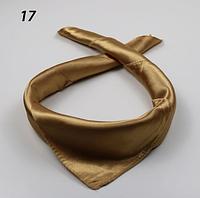 Платок 57х57 Золотой однотонный Р-17
