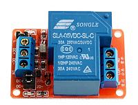 Модуль 1 реле 5В (220В 30А) с опторазвязкой