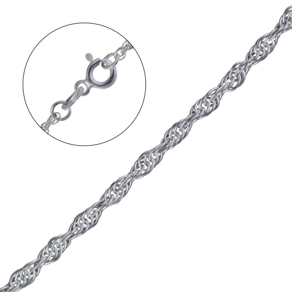 Серебряная цепочка плетение жгут (веревочка)