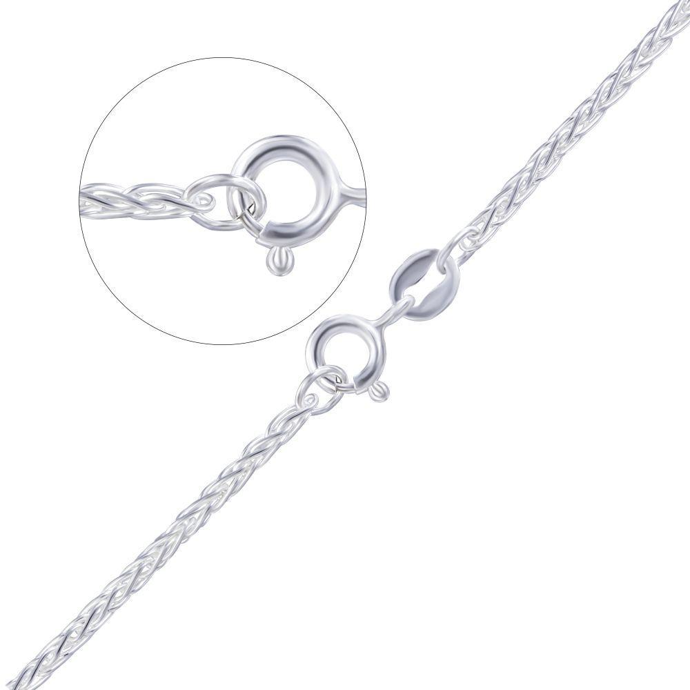 Срібна жіночий ланцюжок плетіння колосок