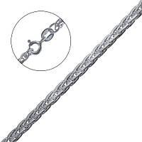 Серебряная цепочка плоский колос 45