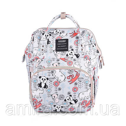 Сумка - рюкзак для мамы Панда, серый ViViSECRET, фото 2