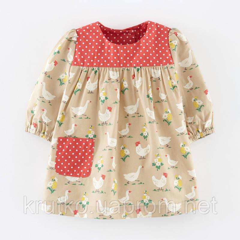 Платье для девочки Домашние птицы Little Maven