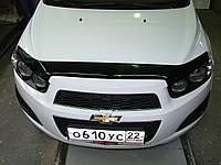 Дефлектор капота, мухобойка Авео 3, Chevrolet Aveo 3