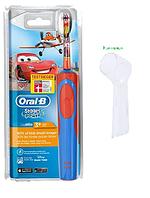 Детская электрическая зубная щетка Oral-B D12. 513 (Тачки) + колпачок