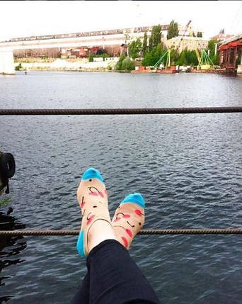 Женские короткие носки CHERRY, короткие, Хлопок, Мужские\Женские, Шкарпетки з написом, фото 2