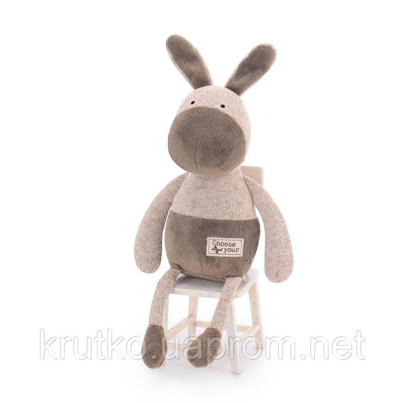 Мягкая игрушка Коричневый ослик, 33 см Metoys
