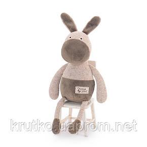 Мягкая игрушка Коричневый ослик, 33 см Metoys, фото 2