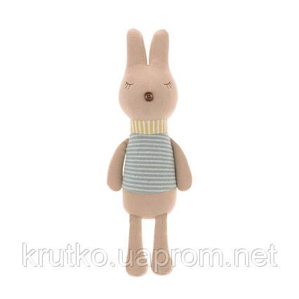Мягкая игрушка Кролик в полоску, 42 см Metoys, фото 2