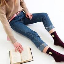 """Бордовые носки """"КАПУЧИНО"""". ТМ SOX, фото 3"""