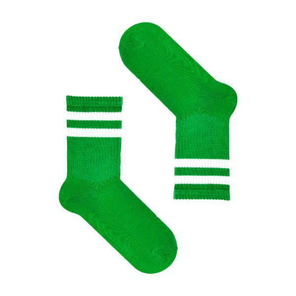 Зеленые носки с полосами  SOX