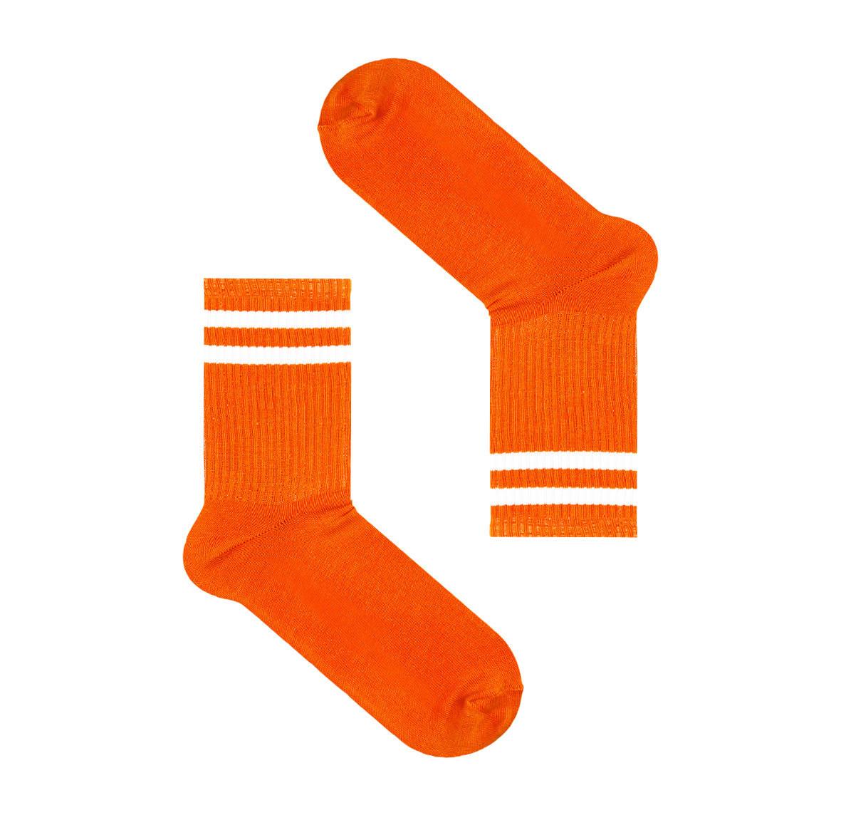 Оранжевые носки с полосами сверху SOX