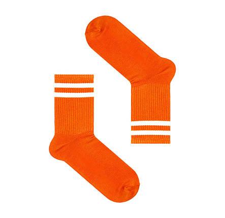 Оранжевые носки с полосами сверху SOX, фото 2