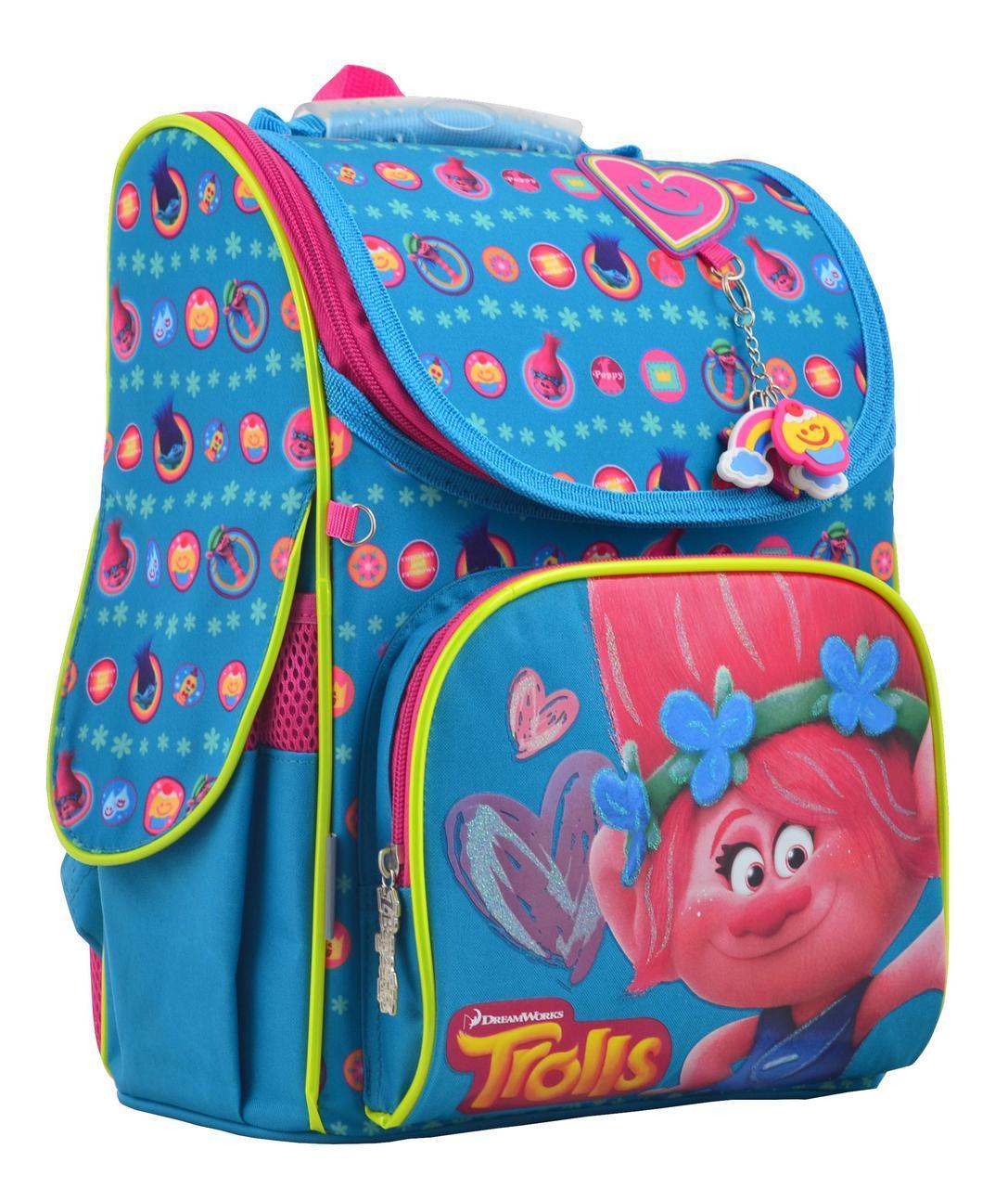 Рюкзак 1Вересня 555162 каркасный H-11 Trolls turquoise