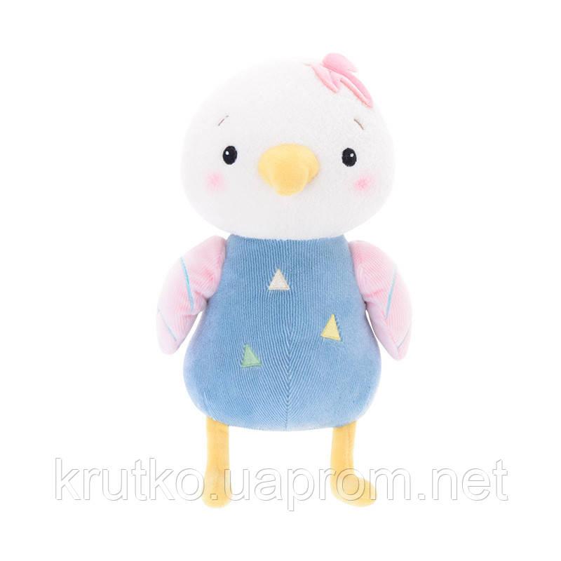Мягкая игрушка Цыпленок в голубом, 22 см Metoys