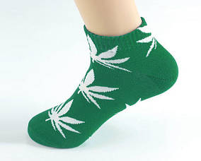 Зеленые короткие носки с белым листом ХАФ HUF PLANTLIFE ОРИГИНАЛ  Низкие (Шкарпетки Жіночі / Чоловічі)
