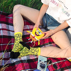 Желтые носки в смайлики. Артикул:SF-05, фото 2
