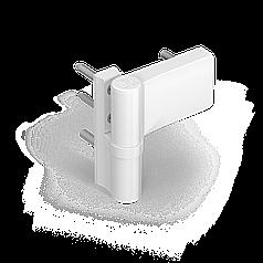 Дверна петля Dr.Hahn KT-V Band ПВХ 160 кг., 18-23 mm, срібло, RAL 9006