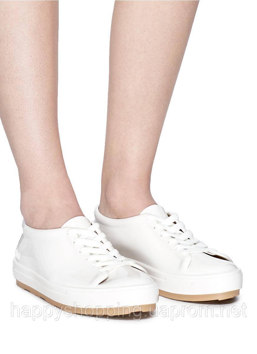 Женские стильные оригинальные белые кеды Melissa