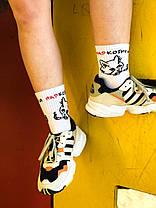 Носки белые с надписью НАР КОТИКИ. Артикул:SF-04, фото 2