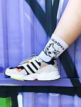 Носки белые с надписью НАР КОТИКИ. Артикул:SF-04, фото 3