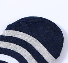 Комплект (5 пар) носков-следов в полоску с силиконовым фиксатором на ноге с фиксатором на пятке, Набор носков Размер 36-41, фото 2