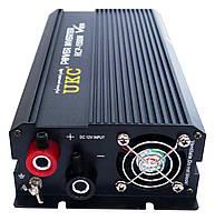 Инвертор преобразователь напряжения Power Inverter UKC 1500W 12V в 220V, фото 2