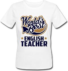Женская футболка World's Best English Teacher (белая)