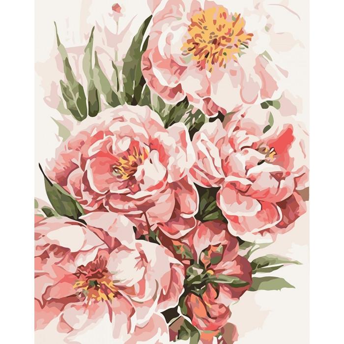 Картина за номерами КНО3046 Півонії для коханої 40x50 см., Ідейка