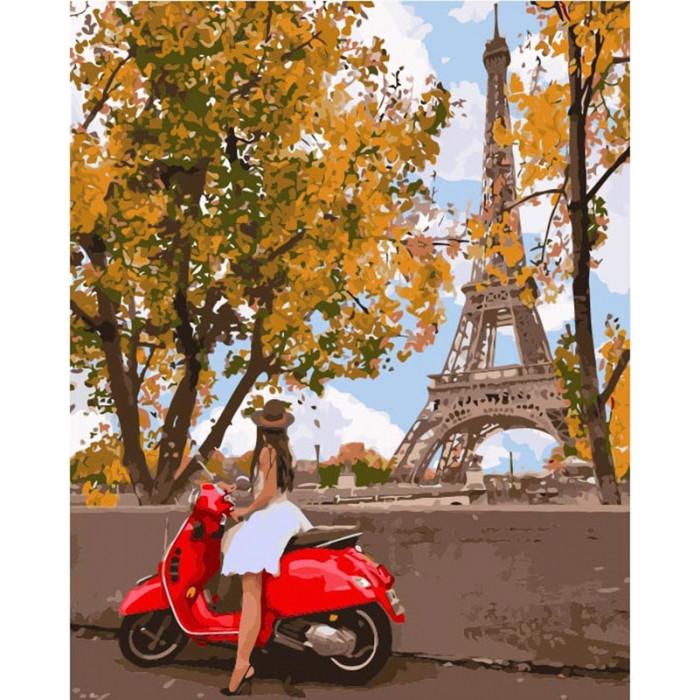 Картина по номерам Вперше у Парижі 40x50 см., Идейка