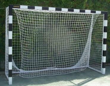 Сетка мини футбольная (гандбольная) капроновая простая игровая,  д-р шнура 3,5мм (для ворот 3мх2м)