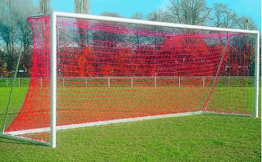 Сітка футбольна капронова профі прем'єр ліга, кольорова д-р шнура 4,5 мм (для воріт 7,32мх2,44м)