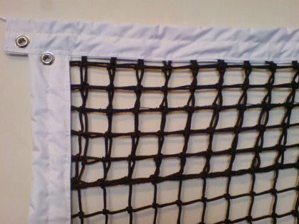 Сетка капроновая для большого тенниса профи (кубковая),  д-р шнура 4,5мм, черная