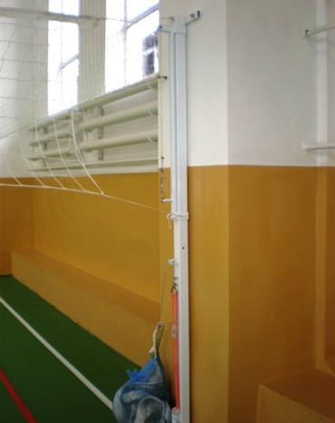 Стойки универсальные волейбол/теннис с устройством ременного натяжения со стаканами
