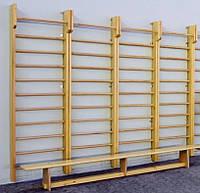 Шведская стенка деревянная 2800х1000 с верхним турником